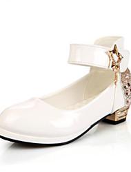 cheap -Girls' Shoes PU(Polyurethane) Spring &  Fall Flower Girl Shoes Heels Rhinestone for Kids White / Black / Red