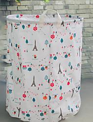 Недорогие -Ткань Круглый Очаровательный Главная организация, 1шт Корзины для хранения