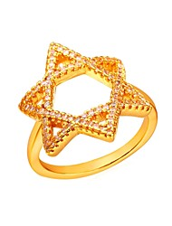 cheap -Women's AAA Cubic Zirconia Mismatched Ring - Copper Star Fashion Gold / Silver For Gift Daily