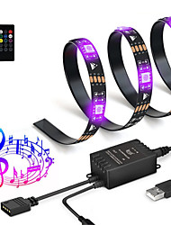 cheap -2m Light Sets / RGB Strip Lights 60 LEDs SMD5050 RGB+White Cuttable / USB / Waterproof 5 V / USB Powered 1pc
