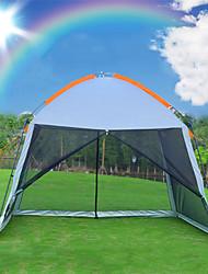 Недорогие -8 человек на открытом воздухе Семейный кемпинг-палатка Дожденепроницаемый Воздухопроницаемость Устойчивость к УФ Карниза Однокомнатная Двухслойные зонты 2000-3000 mm Палатка для