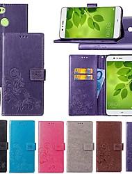 Недорогие -Кейс для Назначение Huawei Y7 Prime (2018) / P smart Кошелек / Бумажник для карт / со стендом Чехол Мандала / Бабочка Твердый Кожа PU для Y9 (2018)(Enjoy 8 Plus) / Nova 2 / Nova