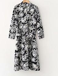 cheap -Women's Basic Sheath Dress - Floral Lace up / Print