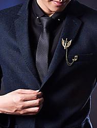 Недорогие -Муж. Цирконий Стильные Броши - модный, Мода, Элегантный стиль Брошь Золотой / Серебряный Назначение Свадьба / Праздники
