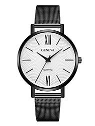 baratos -Geneva Mulheres Relógio de Pulso Chinês Novo Design / Relógio Casual / Legal Lega Banda Casual / Fashion Preta / Dourada / Ouro Rose