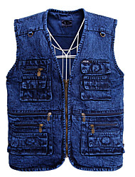 cheap -Men's Street chic Vest - Solid Colored