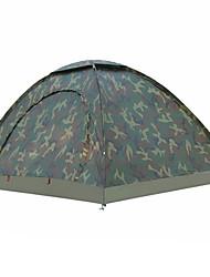 abordables -2 Personas Tiendas de Campaña para Senderismo Una capa Palo Carpa para camping Al aire libre Resistente a la lluvia, Resistentes a los rayos UV para Pesca / Playa / Camping / Senderismo / Cuevas