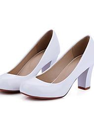 Недорогие -Жен. Обувь на каблуках На шпильке Полиуретан Удобная обувь Весна Белый / Черный / Красный / Повседневные