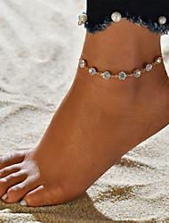 baratos -Fio Único tornozeleira - Na moda, Romântico, Doce Dourado Para Presente / Para Noite / Mulheres