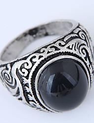 cheap -Men's Retro Ring - Resin Simple, Vintage, European Black / Dark Red For Causal / Daily