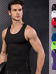 cheap -Men's Running Tank Top - Red, Green, Blue Sports Vest / Gilet / Tank Top Fitness, Gym, Workout Activewear Quick Dry, Sweat-wicking High Elasticity