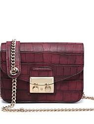 economico -Per donna Sacchetti PU Borsa a tracolla Set di borse da 5 pezzi Bottoni / Decorazioni in rilievo Blu scuro / Rosso nero / Rosso scuro