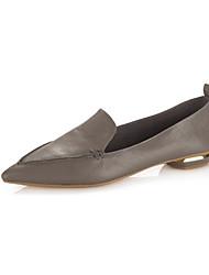 abordables -Femme Chaussures Cuir Nappa Printemps & Automne Confort Mocassins et Chaussons+D6148 Talon Bas Gris / Rose