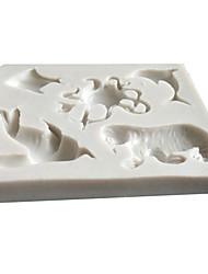 Недорогие -Инструменты для выпечки силикагель Милый / 3D Торты Формы для пирожных 1шт