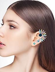 abordables -Femme Creux Boucles d'oreille goujon Poignets oreille - Strass Plume Large, Ethnique Argent / Arc-en-ciel Pour Carnaval Mascarade