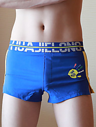 cheap -Men's Boxers Underwear / Briefs Underwear Solid Colored / Color Block / Letter Mid Waist