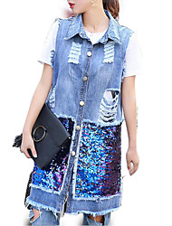 cheap -women's long vest - geometric