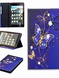 Недорогие -Кейс для Назначение Amazon Kindle Fire hd 8(7th Generation, 2017 Release) Кошелек / Бумажник для карт / со стендом Чехол Слон Твердый Кожа PU