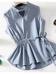 abordables -Mujer Básico Camisa Un Color