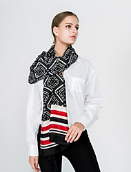 cheap -Women's Vintage / Holiday Rectangle - Geometric Black & White, Tassel