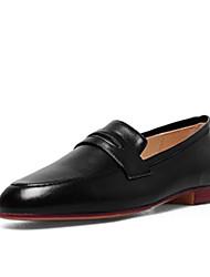 abordables -Femme Chaussures Cuir Nappa Printemps / Automne Confort Mocassins et Chaussons+D6148 Talon Plat Noir / Rose / Marron