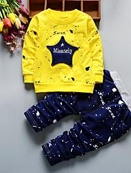 billige -Baby Drenge Stribet / Patchwork Langærmet Tøjsæt