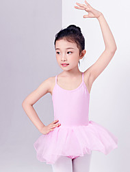 cheap -Ballet Dresses Girls' Training / Performance Cotton Lace / Split Joint Sleeveless Natural Dress