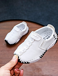 cheap -Boys' Shoes PU(Polyurethane) Spring & Summer Comfort Boat Shoes Walking Shoes for Kids White / Black / Brown