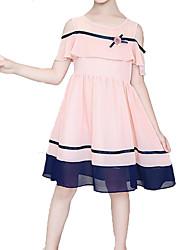 cheap -Kids Girls' Striped / Patchwork Sleeveless Dress