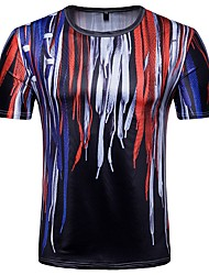 cheap -Men's T-shirt - Geometric Round Neck / Short Sleeve
