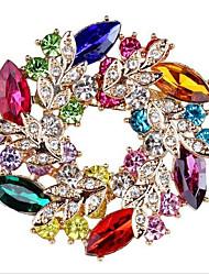 baratos -Mulheres Fashion Broches - Formato de Folha, Flor Doce, Fashion Broche Azul /  Vermelho Para Formal / Encontro