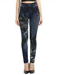 economico -Per donna Attivo Jeans Pantaloni - Tinta unita In bianco e nero