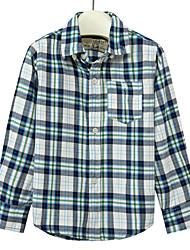 cheap -Men's Basic Shirt - Plaid Patchwork / Print