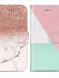 ieftine -Maska Pentru Samsung Galaxy S9 Plus / S9 Portofel / Titluar Card / Cu Stand Carcasă Telefon Marmură Greu PU piele pentru S9 / S9 Plus / S8