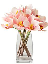 baratos -Flores artificiais 4.0 Ramo Clássico Estiloso / Europeu Orquideas Flor de Mesa