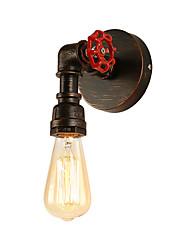 baratos -Sótão mini estilo industrial retro arandela restaurante e bar de metal da tubulação de água da lâmpada de parede pintado acabamento