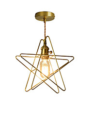 cheap -Modern Gold Metal Pendant Lights Twisted Cord With Knob Switch Bedroom Dining Room Cafe Bars Light Fixture Painted Finish
