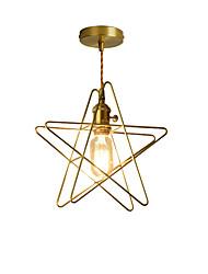 baratos -Luzes pingente de metal moderno ouro torcido cabo com interruptor de botão quarto sala de jantar café bares luminária pintada acabamento