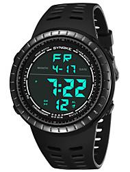 Недорогие -SYNOKE Муж. Спортивные часы / электронные часы Календарь / Секундомер / Защита от влаги PU Группа Мода Черный / Серый / Цвет клевера