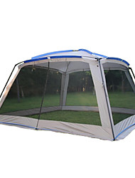 cheap -8 person Family Tent Double Layered Poled Camping Tent Outdoor Lightweight, Rain-Proof, Wearable for Camping / Hiking / Caving / Picnic >3000 mm Terylene 365*365*210 cm