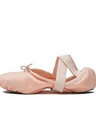Недорогие -Жен. Обувь для балета Эластичная ткань Кроссовки На плоской подошве Танцевальная обувь Оранжевый / Розовый