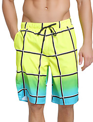 cheap -SBART Men's Swim Shorts Waterproof, Quick Dry, Breathable Polyester / Spandex Swimwear Beach Wear Board Shorts Plaid / Check Surfing / Beach / Water Sports / Stretchy