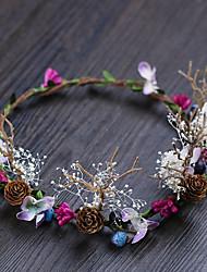 Недорогие -Полиэстер ободки с Цветы 1 шт. Свадьба / на открытом воздухе Заставка