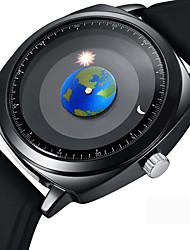 Недорогие -Муж. Нарядные часы / Наручные часы Японский Творчество / Cool силиконовый Группа На каждый день / Мода Черный / Нержавеющая сталь / Sony 377