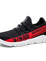 baratos -Homens sapatos Tricô / Com Transparência Verão Conforto / Solados com Luzes Tênis Corrida Branco / Preto / Preto / Vermelho / Preto / Amarelo