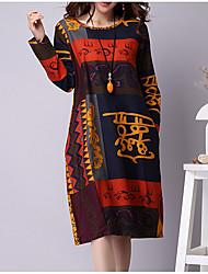 billige -Dame I-byen-tøj Skift Kjole Knælang
