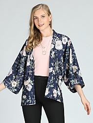 abordables -Mujer Activo / Chic de Calle Estampado Camisa Floral
