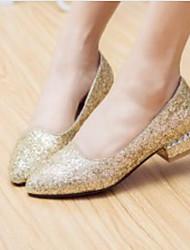 Недорогие -Жен. Обувь Синтетика Весна Удобная обувь На плокой подошве На плоской подошве Золотой / Серебряный / Красный