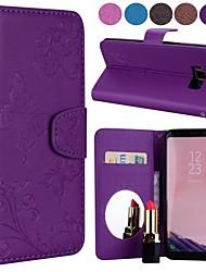 ieftine -Maska Pentru Samsung Galaxy S9 / S8 Portofel / Titluar Card / Cu Stand Carcasă Telefon Fluture Greu PU piele pentru S9 / S9 Plus / S8 Plus