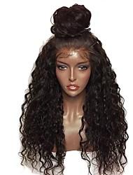 Недорогие -Синтетические кружевные передние парики Кудрявый Стрижка каскад Искусственные волосы 24 дюймовый вьющийся Красный / Черный Парик Жен. Средняя длина Лента спереди